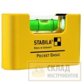 STABILA Уровень тип Pocket Basic (1гориз., точн. 1мм/м)